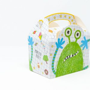 Meal Box Monster Party cartoncino compostabile 15x10x10cm