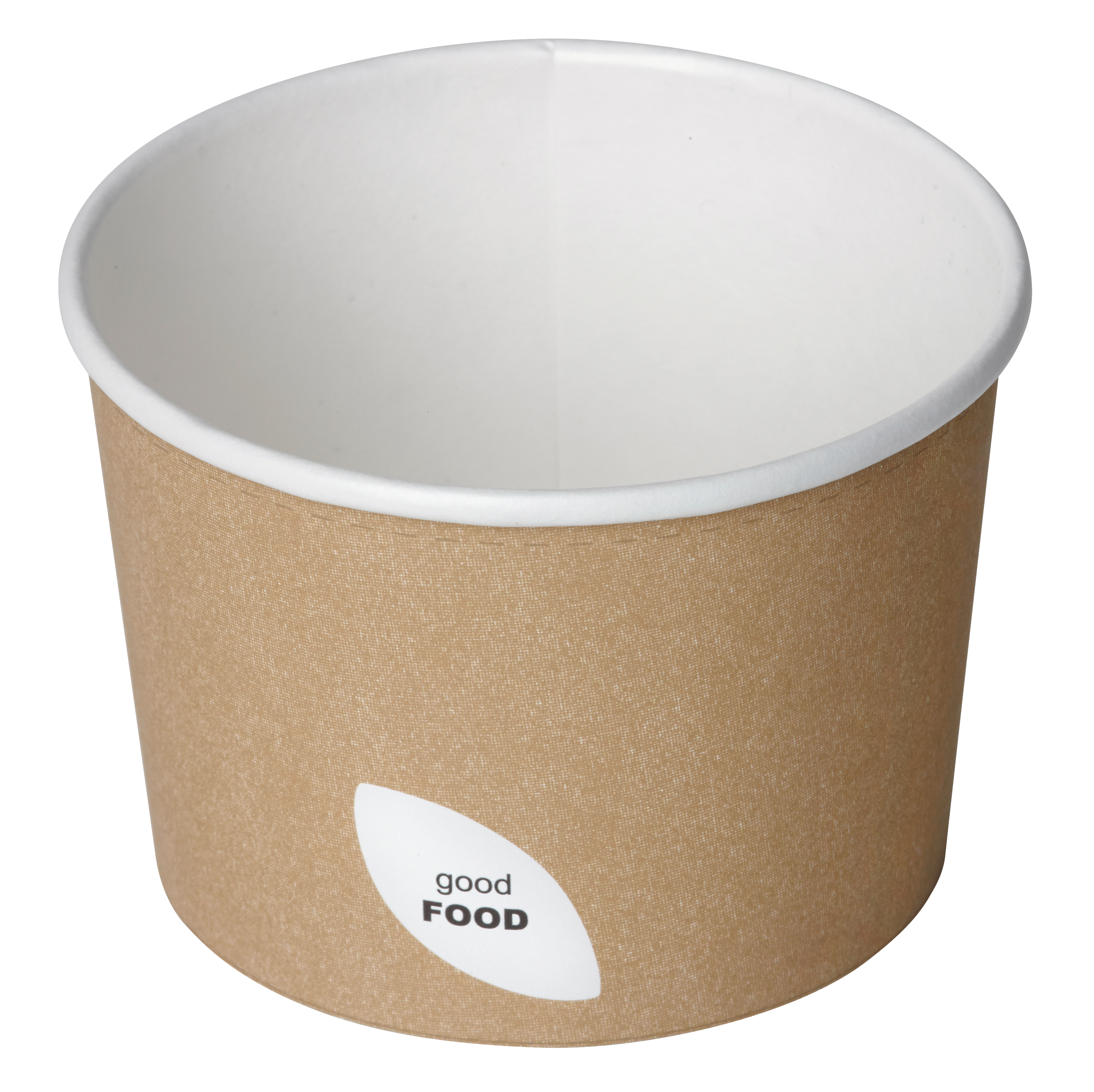 Contenitore per zuppa in cartoncino colore avana 250ml (400 pezzi)