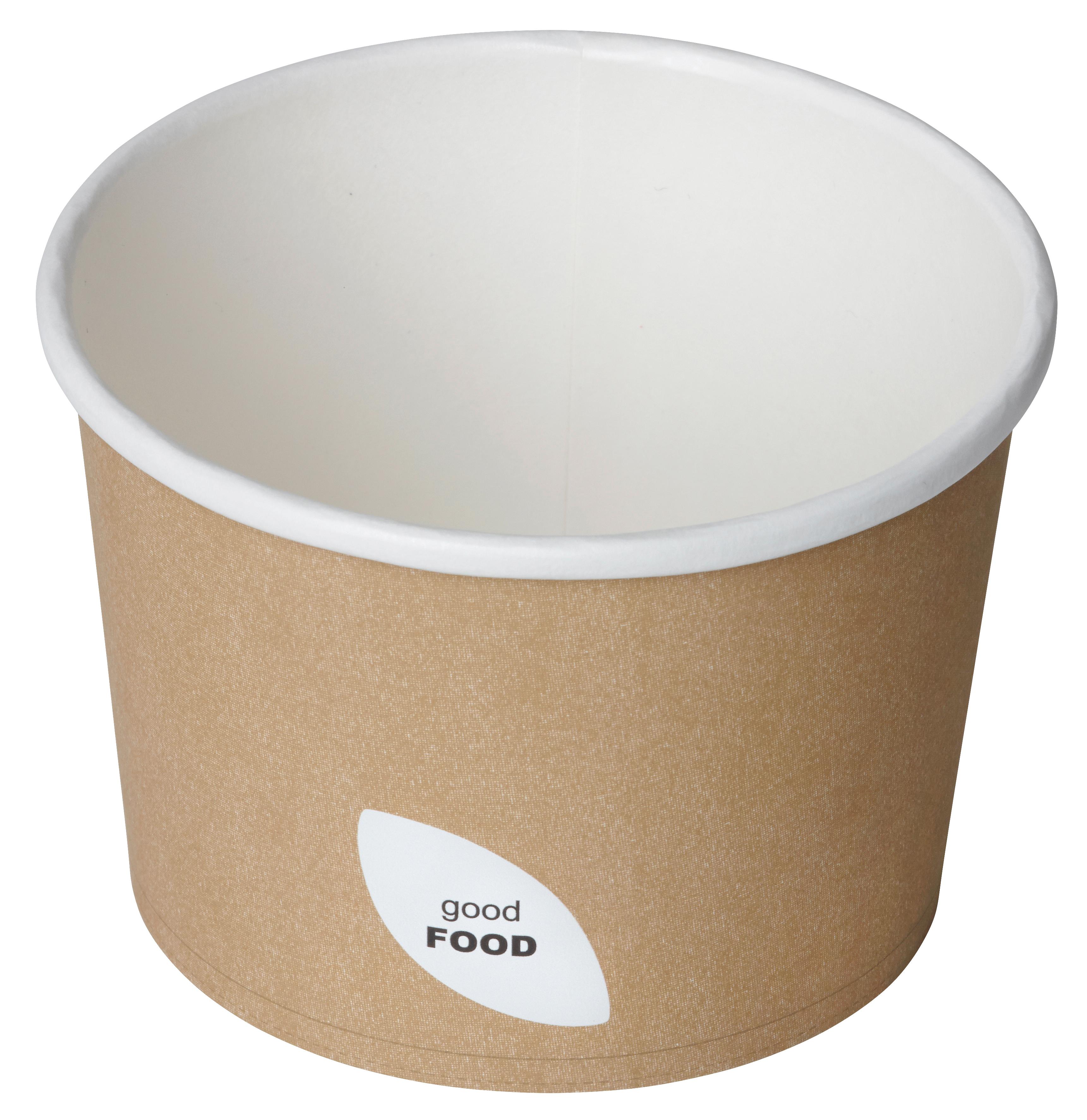 Contenitore per zuppa in cartoncino colore avana 550ml (500 pezzi)