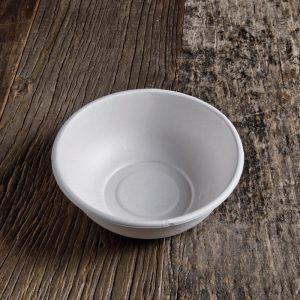 Fondina bianca in polpa di cellulosa (bagassa) 850 ml per porzioni abbondanti