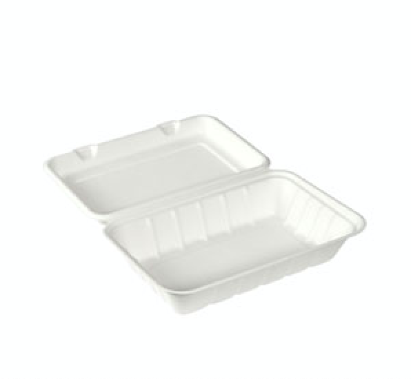 HAMBURGER BOX IN POLPA DI CELLULOSA BIANCA - 850 ML (120 PEZZI)