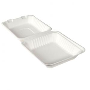 Hamburger box Scatola ecoecho® 225 x 201 x 85 mm Bianco 1-Scomp, 150 pz: