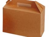 LUNCH BOX IN CARTONCINO AVANA 265x128x180MM (125 PEZZI)