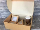 LUNCH BOX LARGE IN CARTONCINO AVANA 400x260x150MM (50 PEZZI)